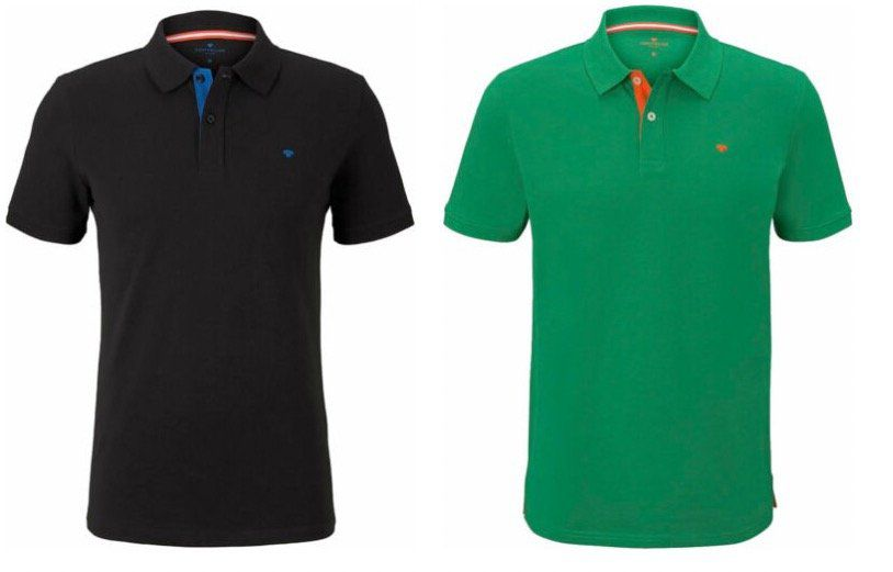 Restposten: Tom Tailor Basic Kurzarm Poloshirt für 14,39€ (statt 21€)