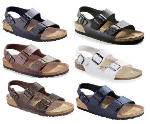 Birkenstock Milano Unisex Sandale aus Glattleder für 49,56€ (statt 60€)