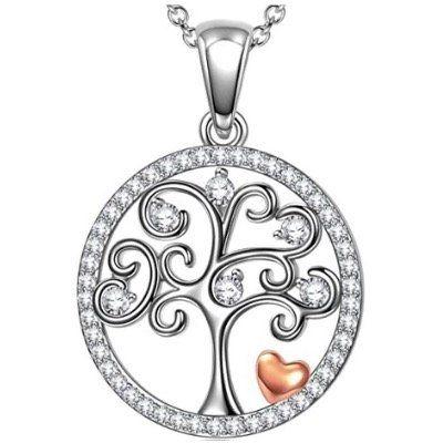 ANGEL NINA Anhänger aus 925er Sterling Silber mit Lebensbaum Motiv in Geschenkbox für 14,99€ (statt 26€)   Prime