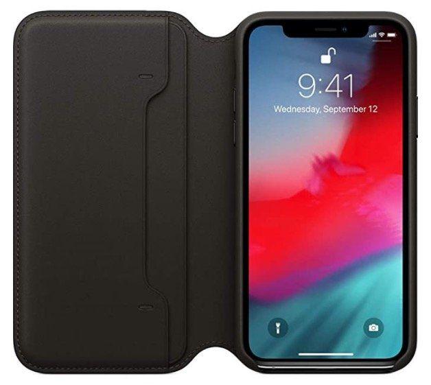 Apple iPhone XS & XS Max Echt Leder Folio Case für 17,91€ (statt 34€)