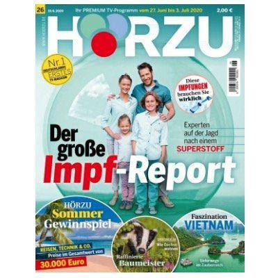 Tipp! Halbjahresabo Ausgaben HÖRZU TV Zeitschrift für 59,80€+ Prämie: 60€ Amazon Gutschein