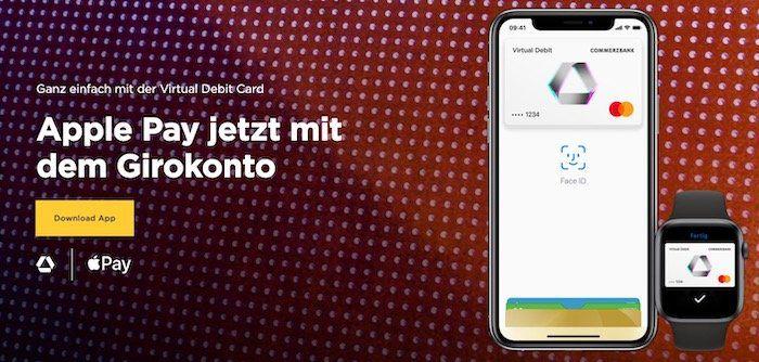 Commerzbank Kunden: Apple Pay einrichten, einmalig damit bezahlen und 5€ geschenkt bekommen