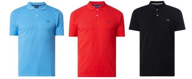 GANT Poloshirt mit Logo Stickerei aus Piqué Baumwolle in Restgrößen für 34,99€ (statt 52€)