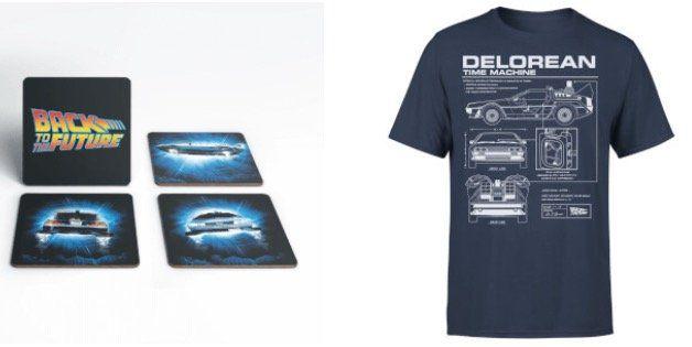 Zurück in die Zukunft Delorian Shirt + 4 Untersetzer für 11,99€ (statt 22€)