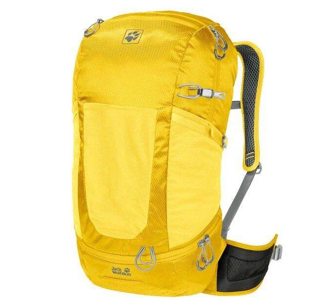 Jack Wolfskin Kingston 30 Pack Reiserucksack in Gelb für 46,77€ (statt 76€)