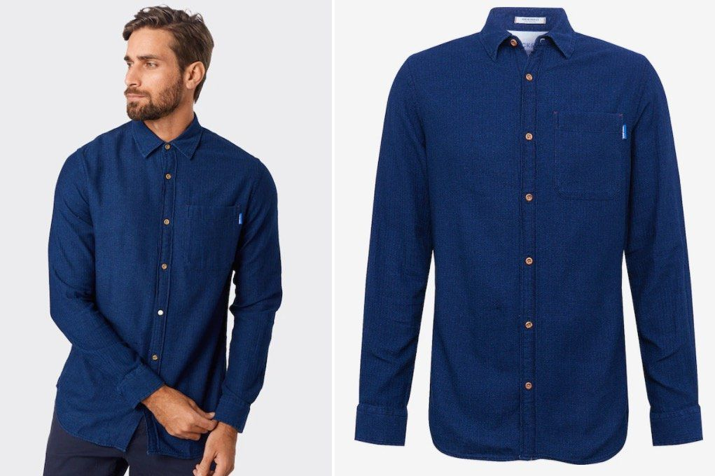 Jack & Jones Jorjaques Hemd in Blau für 16€ (statt 35€)   in S nur 13,96€
