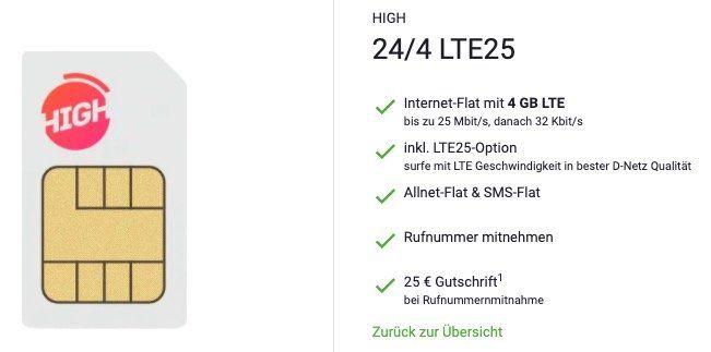 Telekom Flat von Sparhandy mit 4GB LTE für 10€ mtl.