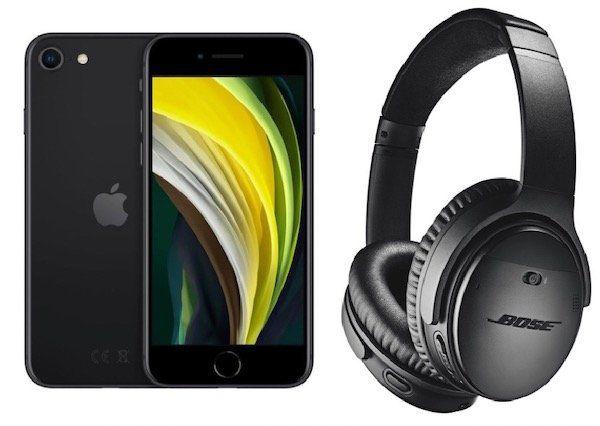 iPhone SE (2020) 64GB + Bose QuietComfort 35 II für 49,95€ + Vodafone Flat mit 15GB LTE für 36,99€ mtl.