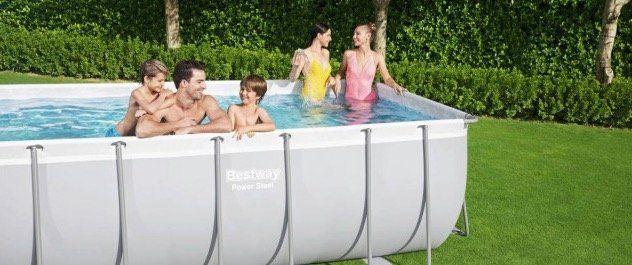 Ausverkauft! Bestway Power Steel Frame Pool Set 412x201x122 mit viel Zubehör für 394,99€ (statt 680€)