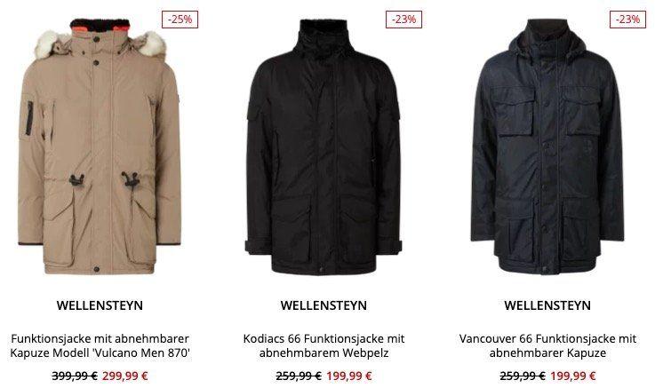 Wellensteyn Restposten mit 20% Extra Rabatt bei Peek & Cloppenburg*   z.B. Colonel 888 Fieldjacket für 95,99€ (statt 150€)