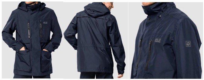 Jack Wolfskin Bridgeport Herren Hardshell Jacket in Nightblue für 121,80€ (statt 194€)   S bis L