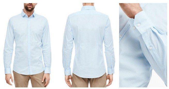 Doppelpack s.Oliver Black Label Herren Businesshemden in Hellblau für 49,99€ (statt 90€)