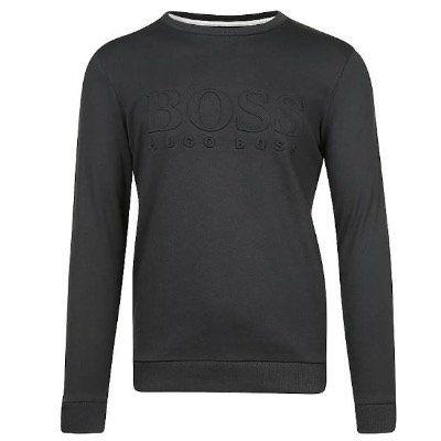 Boss Sweatshirt mit Logodruck in Blau für 69,90€ (statt 89€)
