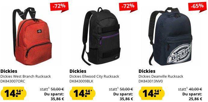 Dickies Rucksäcke für je 18€ bei SportSpar (statt 28€)