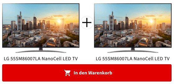 2x LG 55SM86007LA   55 Zoll UHD Fernseher ab 1.061,29€ (statt 1.200€)