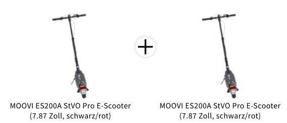 🔥 2x MOOVI ES200A StVO Pro E Scooter (7,87 Zoll, Schwarz Rot) zusammen nur 778,87€ (statt 1.398€)