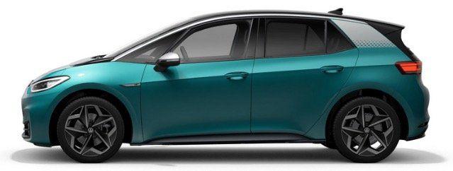 Gewerbe: Volkswagen ID.3 Pro Performance mit 204PS bis zu 420KM für 195€ netto mtl.   LF 0,7