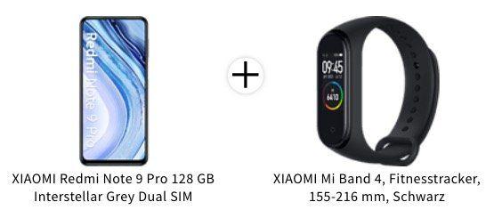 Xiaomi Redmi Note 9 Pro mit 128GB + Mi Band 4 für 247,24€ (statt 275€)