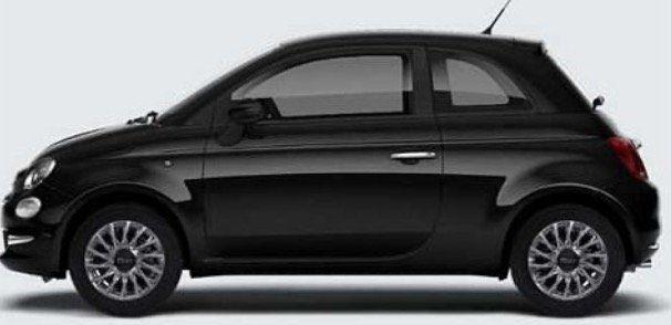 Privat & Gewerbe: Fiat 500 Hybrid Serie 8 mit 69PS in Vesuvio Schwarz für 79€ mtl.   LF 0,63