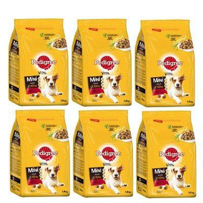 6x Pedigree Hunde Trockenfutter Adult Mini für kleine Hunde (6x 1,4kg) für 17,99€ (statt 25€)
