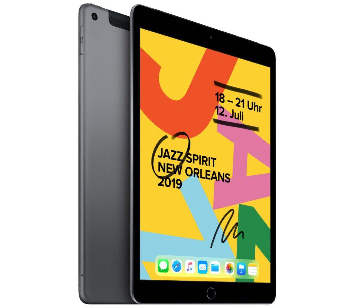 Apple iPad (2019) 128GB WiFi + 4G in Space Grau für 478,25€ (statt 536€)