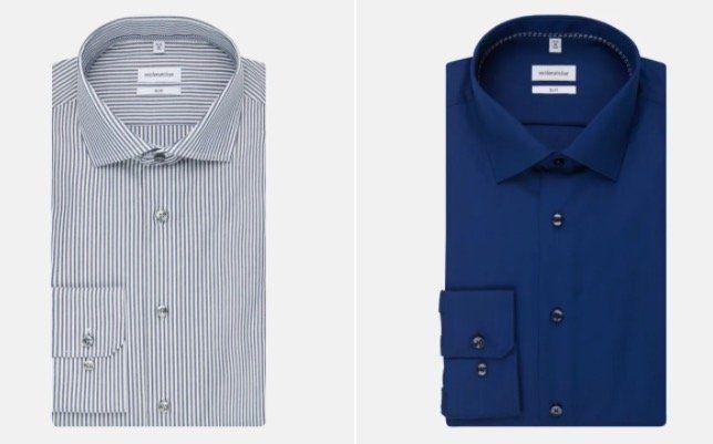 Seidensticker bügelfreie Business Hemden in Slim, Shaped oder Regular für je 20,99€
