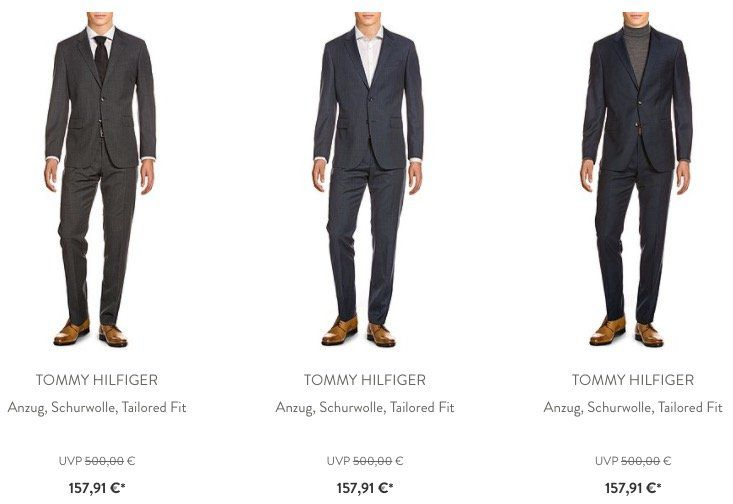 Knaller! 🔥 Großer Tommy Hilfiger Sale   z.B. Anzüge aus Schurwolle ab 157,91€ (statt 270€)