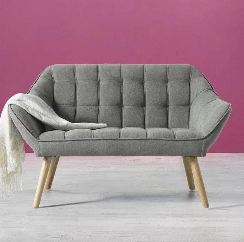 """Zweisitzer-Sofa """"Monique"""" mit Holzfüßen ab 139,30€ (statt 269€)"""