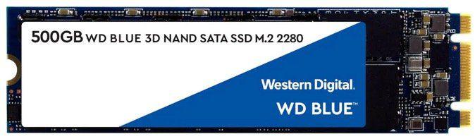 Western Digital Blue SSD 3D M.2 500GB  für 50,94€ (statt 67€)