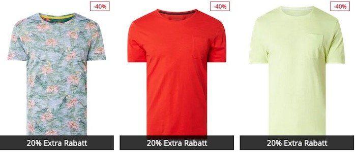 Montego T Shirts aus Baumwolle in vielen Varianten für 4,90€ (statt 10€)