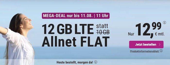 o2 Flat von simply mit 12GB LTE für 12,99€mtl. + keine Laufzeit möglich