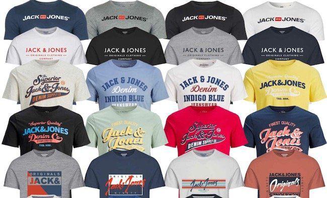 Jack & Jones Herren Logo Print T Shirts für 10,50€ (statt 15€)