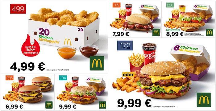 McDonalds Gutscheine vom 7. Januar bis zum 14. Februar 2021   auch ohne APP
