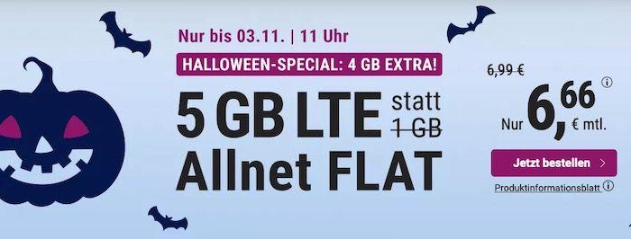 Allnet Flatrate im O2 Netz mit 5GB LTE von Simply für 6,66€ mtl. + monatlich kündbar (oder 12GB für 14,99€)