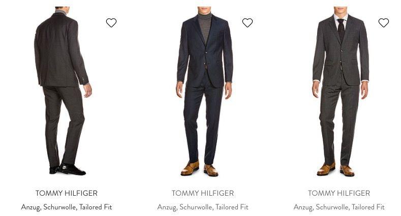Tommy Hilfiger Anzüge aus Schurwolle in Modern Fit und Tailored Fit für 195,55€ (statt 270€)