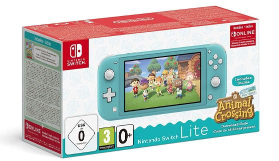 Nintendo Switch Lite Türkis oder Rosa + Animal Crossing: New Horizons ab 189,16€ (statt 239€) + 3 Monate Switch Online gratis
