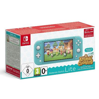 Nintendo Switch Lite Türkis oder Rosa + Animal Crossing: New Horizons für 209,99€ (statt 244€) + 3 Monate Switch Online gratis