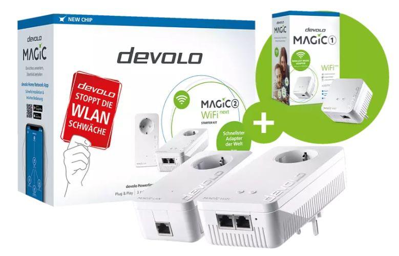 Devolo Magic 2 WiFi next Starter Kit + Magic 1 WiFi Mini für 167€ (statt 245€)