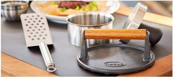 Rösle BBQ Burgerpresse Pro aus Edelstahl für 11cm Patties für 11,99€  (statt 17€)