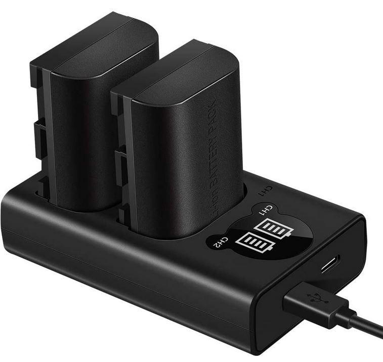 ESDDI LP E6   2 Akkus 1000mAh + Ladegerät für Canon EOS Digicams zusammen 14,99€ (statt 30€)