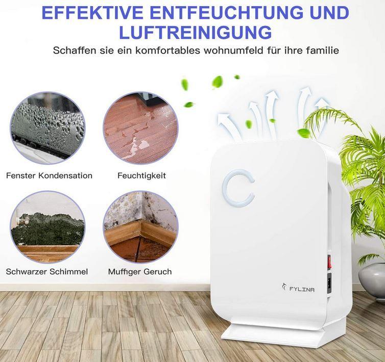 FYLINA elektrischer 1.300ml Mini Luftentfeuchter  für 41,49€ (statt 83€)
