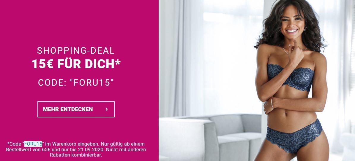 Lascana mit 15% Rabatt auf alles günstige Damen Bekleidung und Bademode ab 65€