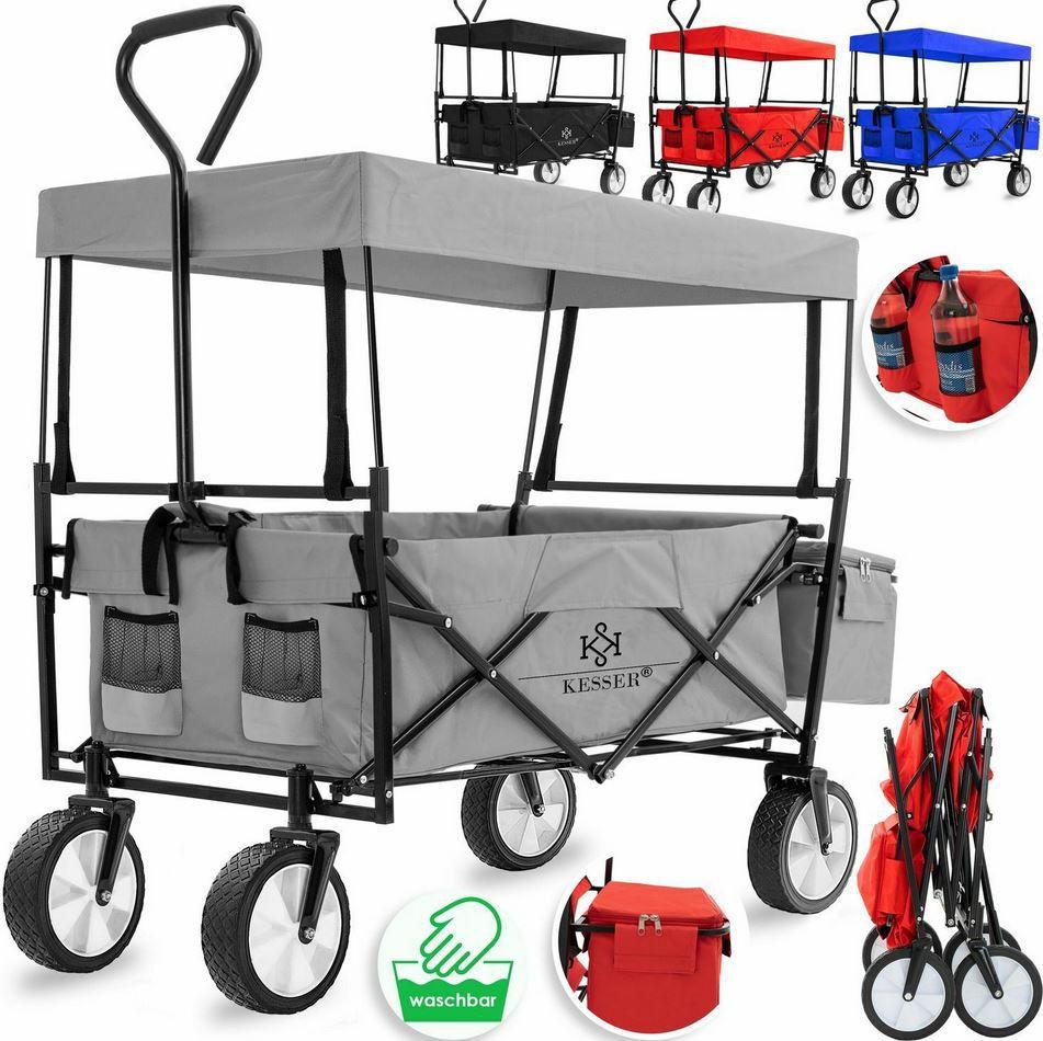 KESSER faltbarer Bollerwagen mit Dach und Tasche max. 100kg für 54,80€ (statt 69€)
