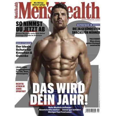 3 Ausgaben Men's Health für nur 12,60€ + Prämie: 16,20€ Verrechnungsscheck
