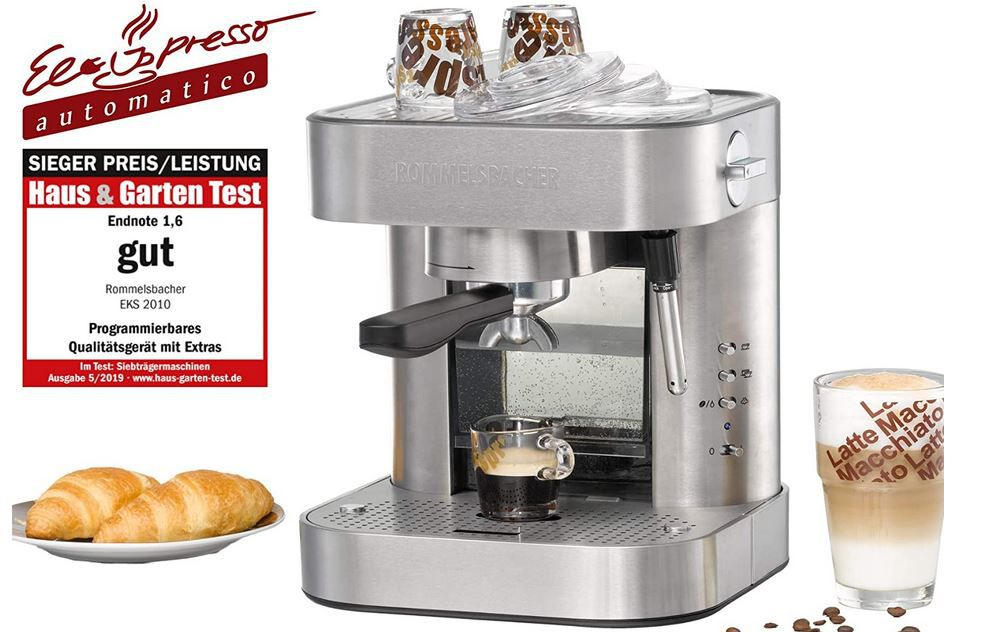 Rommelsbacher EKS 2010 Siebträger Espressomaschine für 159,07€ (statt 177€)