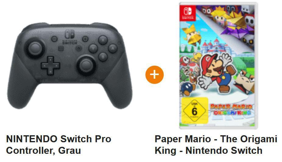 Nintendo Switch Pro Controller + Game: Paper Mario für 87,72€ (statt 114€)