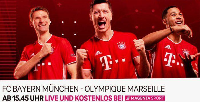 Testspiel FC Bayern vs Olympique Marseille ab 15:45 Uhr kostenlos im Stream