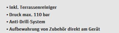 Nilfisk C 110.7 5 HOME X TRA 110bar Hochdruckreiniger inkl. Zubehör & Terrassenreinigung für 79,99€ (statt ~121€)