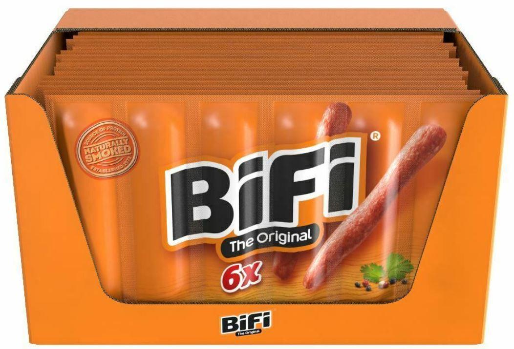 BiFi 20er Pack Original Salami mit je 6 x 22,5 g geräucherte Mini Wurst für 39,80€ (statt 49€)