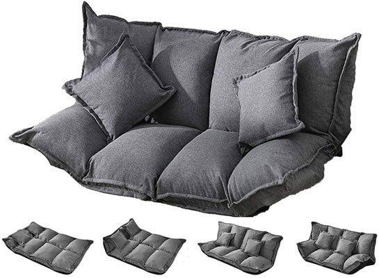 PUCHIKA Bodensofa mit Schlaffunktion inkl. 2 Kissen für 74,99€ (statt 94€)